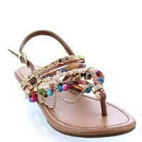 Beaded Bliss Multi-Strap Sandal