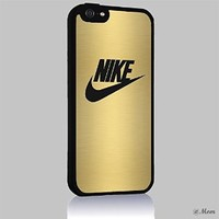 Gold NIKE Iphone 4/4s 5 5c 6 6plus Case (iphone 6plus black)