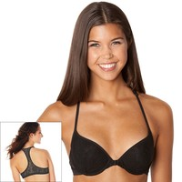 SO Bra: Gimme A Boost Lace Front-Closure Push-Up Racerback Bra