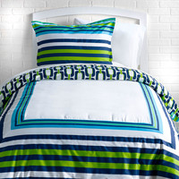 Trina Turk Huntington Stripe Duvet Set