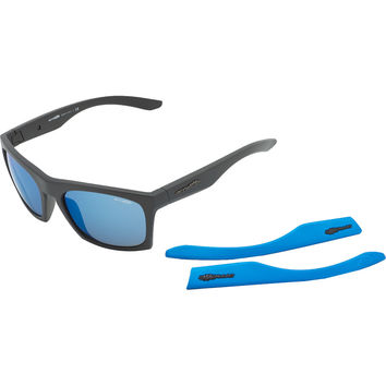 Arnette Dibs Sunglasses - ACES Collection Matte Black with Extra Arms-Neon Blue, One