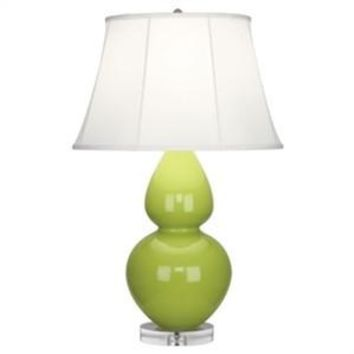 Robert Abbey | Apple Green Double Gourd Table Lamp with Lucite Base