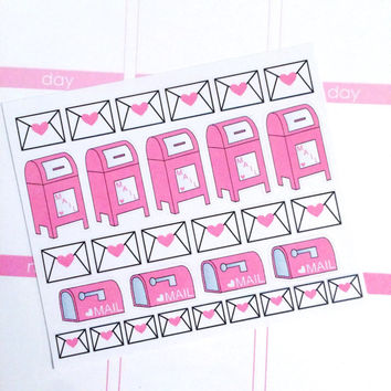 Happy Mail Planner Stickers- 30 count