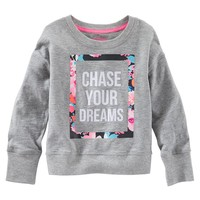OshKosh B'gosh ''Chase Your Dreams'' Floral Sweatshirt - Girls