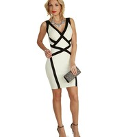 White Stardom Bodycon Dress