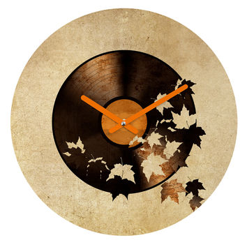 Terry Fan Autumn Song Round Clock