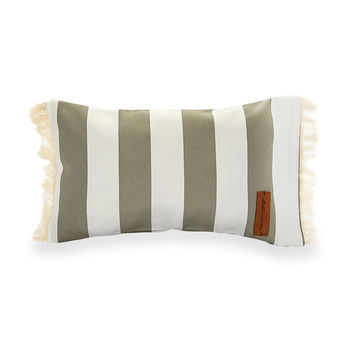 La Belle Handmade Beach Pillow - Grey/Stripe