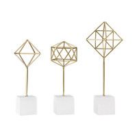 Theorem Decorative Stands Soft Gold,White