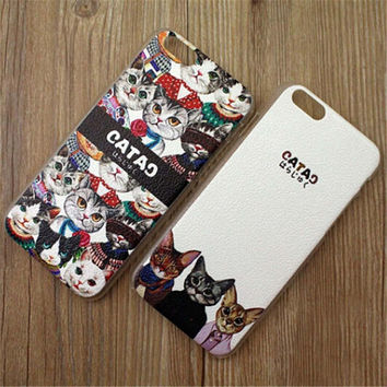 Cute Cat Star Print iPhone 5/5S/6/6S/6 Plus/6S Plus creative case Very Light creative case-11