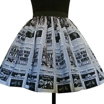 Harry Potter Dress, Skirt, The daily Prophet, Harry Potter, Rooby lane, UNIQUE CLOTHING, UK