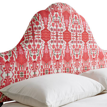 Emma Upholstered Arched Headboard, Red, Headboards