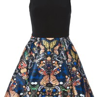 Alice+Olivia butterfly printed bottom dress