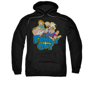 FAMILY GUY FAMILY FIGHT Adult Fleece Pull Over Hoodie