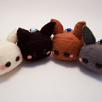 Baby Tofu Bunny Rabbit Plushie Keychain Kawaii Stuffed Toy by Quacked Plush