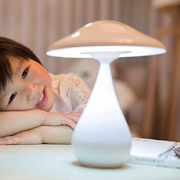 ECVISION Air Purified LED Desk Lamp / Rechargeable Energy Saving Book Light with Touch Adjustable Brightness / Health Anion Anti-radiation (White)