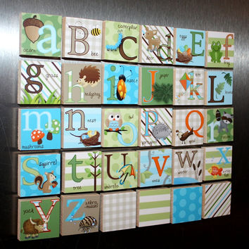 Boys Nature Alphabet Magnets Learn Your ABC's MG0006
