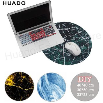 custom new marble round mousepad for dota /csgo gaming lady rubber anime muismat for league of legends/razer/lol pad
