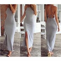 FASHION BACKLESS BODYCON DRESS