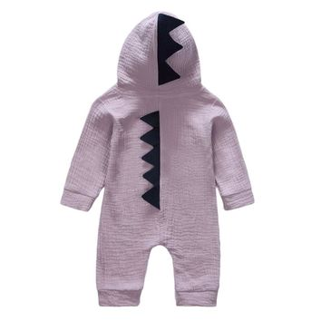 0-24 Months Newborn Baby Boys Girls Jumpsuit Cotton Stegosaurus Dinosaurs Animal Rompers Children Pajamas Lovely Kids Clothes