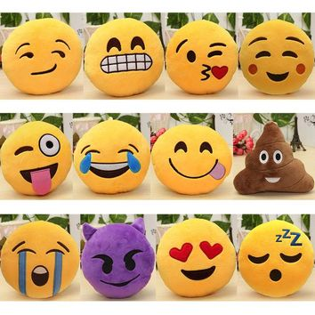 6 Inch Lovely Emoji Smiley Emoticon Pillows Soft Stuffed Plush Cute Cartoon Toy Doll 12 Styles Christmas Gift 2018 fashion new