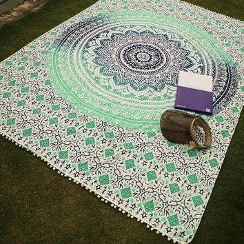 Bohemian Large Tapestry Tassels Blanket Yoga Mat Summer Beach Mat Picnic Throw Rug Blanket Camping Mattress Sleeping Pad Mat
