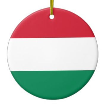 Ornament with flag of Hungary