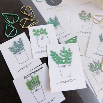 Set A - Coloured Plant Stickers