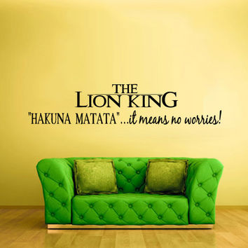 Wall Decal Vinyl Sticker Decals Lion King Hakuna Matatta Sign Quote Letters z1425
