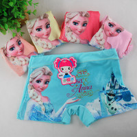 5 Pieces  Kids Girls Underwear Cute Cartoon Panties Children's Girls Boxer Kids Pants Boxer Underpants Briefs TN7002