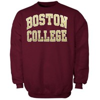 Boston College Eagles Bold Arch Crew Sweatshirt - Maroon