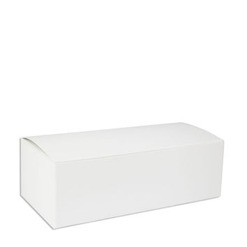 White 1/2 LB Candy Box