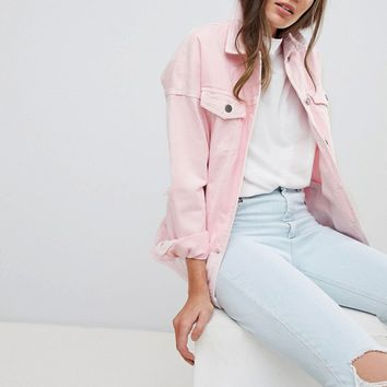 Noisy May Tall Denim Jacket at asos.com