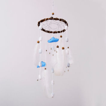 Ваbу mobile Dream Catcher Nursery Decor Mobile dreamcatcher Mobile Dream Catcher Boho dreamcatcher Crib Dream catcher Mobile Nursery Felt