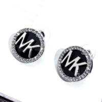 Michael Kors MK Fashion New More Diamond Round Earring Women Jewelry Silver