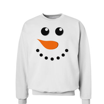 Snowman Face Christmas Sweatshirt