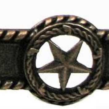 Cast Iron Star Barbwire & Rope Handle Copper