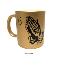 Drake Gold Mug 6 God Ceramic Coffee Cup Hotline Bling