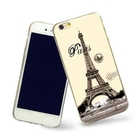 Eiffel Tower phone Case Cover For apple iphone 7 7plus 6plus 6s 6 5s 5 Case Tpu Soft Smartphone Protective Case