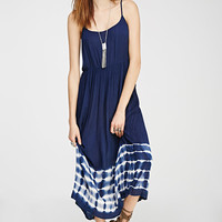 Tie-Dye Lace-Up Maxi Dress