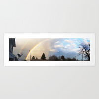 Two Sides of a Rainbow Art Print by Zurine