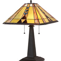 Stained Glass Arts & Crafts Kent Table Lamp