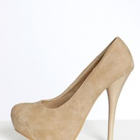 Pumped Up Heels Taupe