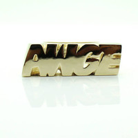 Ian Connor AWGE Ring 14K Yellow gold/White gold/Rose Gold/Silver/Silver with gold plated/ awge jewelry