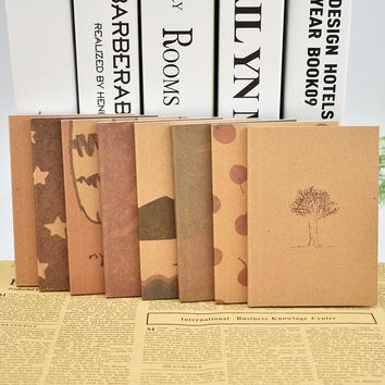 Mini Cute B7 Journal Diary Notebook Drawing Painting Notepad Exercise Book for Kids Creative Gift Free shipping 162