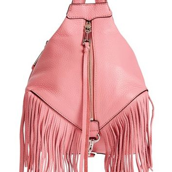 Rebecca Minkoff 'Mini Julian' Fringe Leather Backpack | Nordstrom