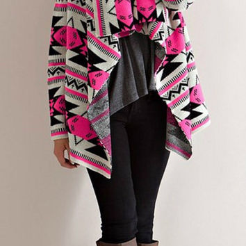 Light Up the Room Cardigan - Neon Pink
