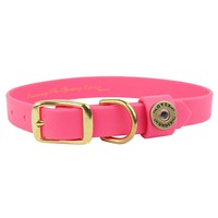 """""""The Water Dog"""" DuraHide Collar in Pink by Over Under Clothing"""