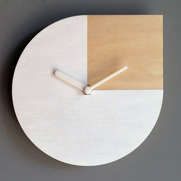 Laser cut wood wall clock Andy Warhol,silent wall clock,Andy Warhol quote,small wall clock,minimalist clock,modern wall clock,wood clock
