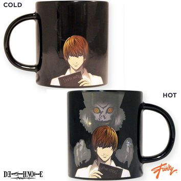 Death Note OFFICIAL Heat-Changing Ceramic Coffee Mug, 16oz Black