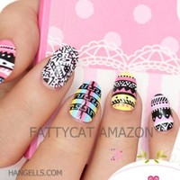 Fashion Japanese 2D / 3D Nail Art Achiote Love 24 Nails Sold By Fattycat